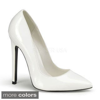 Devious Women's 'Sexy-20' Patent Faux Leather Pointed Toe Pumps