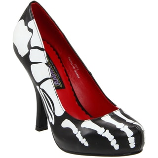Funtasma Women's 'X-ray-12' Black Skeleton Print Pumps