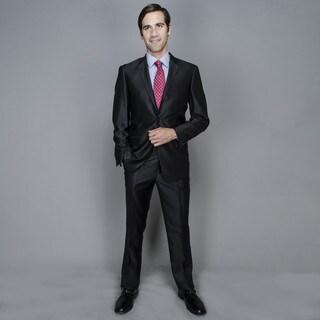 Slim Shine Black 2-button Suit