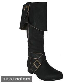 Ellie '121-Jack' Men's 1-inch Heel Knee High Boots