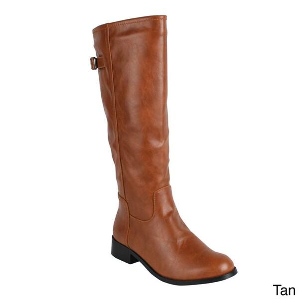 Reneeze 'APPLE-1' Women's Side Zipper Knee-High Riding Boots