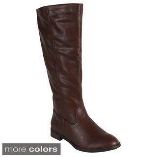 Reneeze 'APPLE-2' Women's Side Zip Knee-High Riding Boots