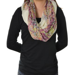 LA77 Solid and Floral Loop Scarf