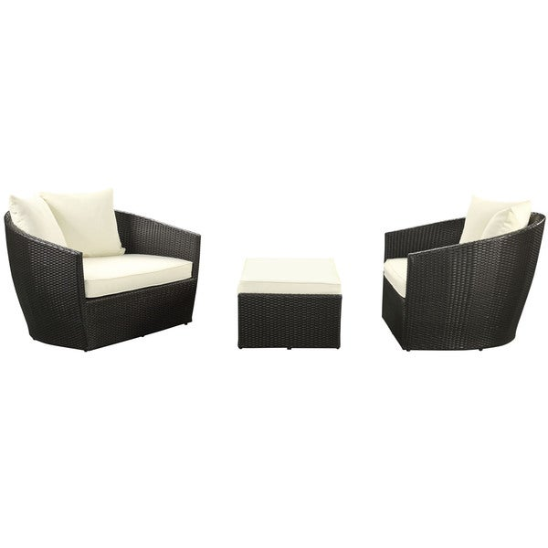 Espresso and White Kindred 3-piece Outdoor Patio Set (Set of 3) - Free Shipping Today ...