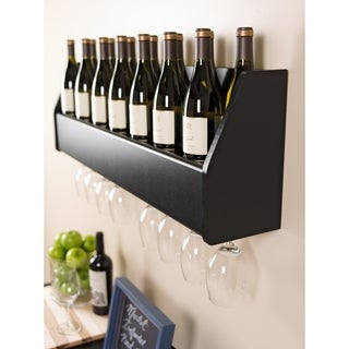 Laurel Creek Maxton Floating Black Wine Rack