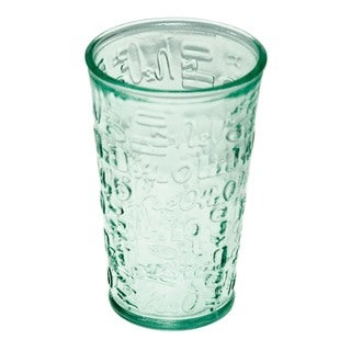 Set of 4 Recycled Glass H20 Drinking Glasses