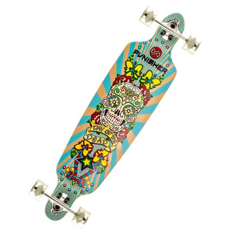 Punisher Skateboards 40-inch Day of the Dead Canadian Maple Longboard