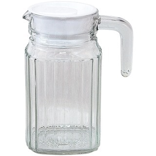 Clear Glass Square Base Quadro Pitcher