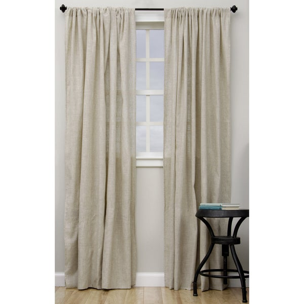 Shop Classic Linen Blend Curtain Panel On Sale Free