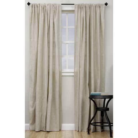 Classic Linen Blend Curtain Panel