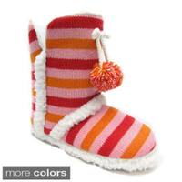 Blue Women's 'Mimi' Striped Slipper Boots