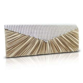Jacki Design Vintage Satin Evening Clutch