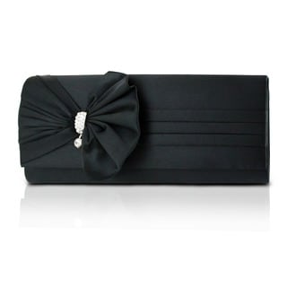 Jacki Design Bow Satin Evening Clutch