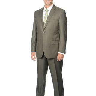 Caravelli Men's Taupe 2-button Notch Collar Suit