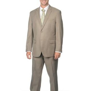 Caravelli Men's Light Taupe 2-button Notch Collar Suit