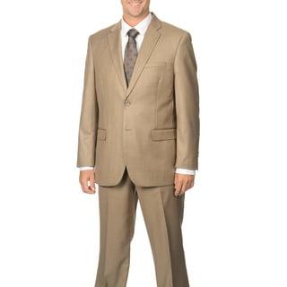 Caravelli Men's Tan Notch Collar 2-button Suit