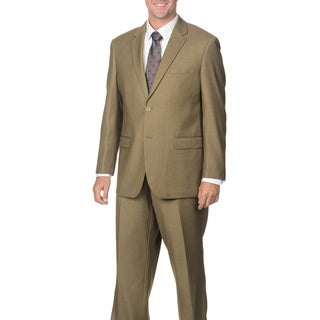 Caravelli Italy Men's Tan Pinstripe Suit