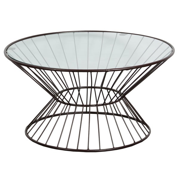 Glass Top Wire Framed Coffee Table - Free Shipping Today ...