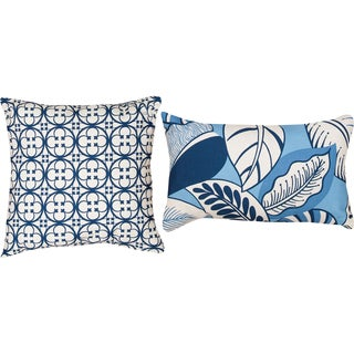 Terre/Tuscan Harbor Blue Decorative Throw Pillows (Set of 2)