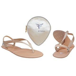 Flipsters Champagne Foldable Flip-flop Sandals