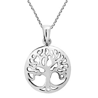 Handmade Classic Tree of Life Symbol Sterling Silver Necklace (Thailand)