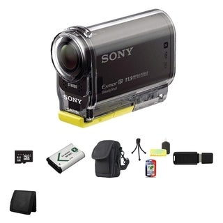 Sony HDR-AS30V HD POV Action Black Camcorder 8GB Bundle
