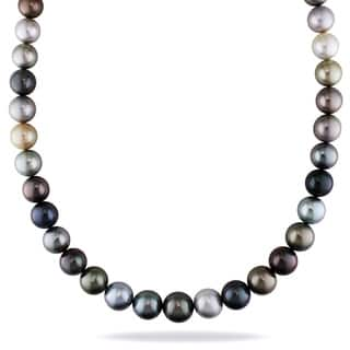 Miadora Signature Collection 14k Yellow Gold South Sea and Tahitian Pearl Necklace (9-12 mm)|https://ak1.ostkcdn.com/images/products/8534352/Miadora-14k-Yellow-Gold-South-Sea-and-Tahitian-Pearl-Necklace-9-12-mm-P15815378.jpg?impolicy=medium