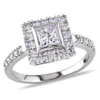 Miadora Signature Collection 14k White Gold 1ct TDW Princess Cut Diamond Ring