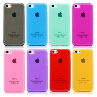 Gearonic Glossy Matte TPU Gel Soft Transparent Case for iPhone 5C