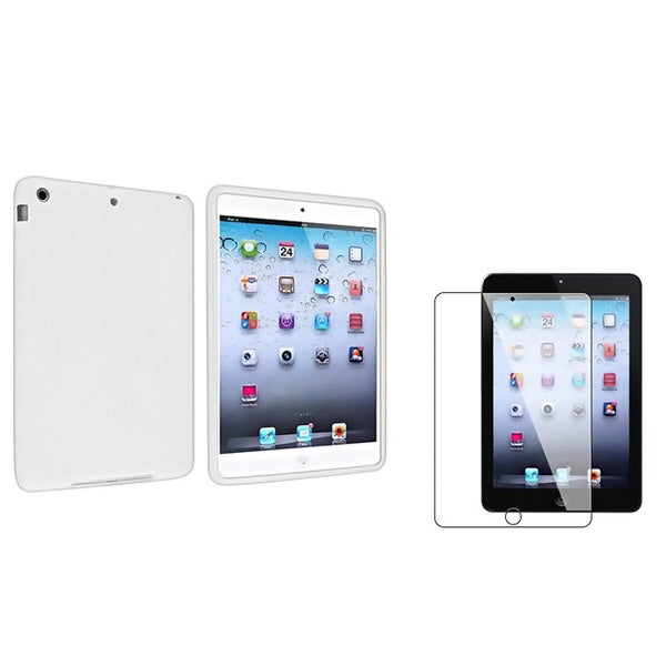 BasAcc White Case/ Screen Protector for Apple iPad Mini 1/ 2 Retina Display