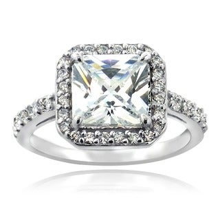 Icz Stonez Sterling Silver Cubic Zirconia Engagement-style Ring