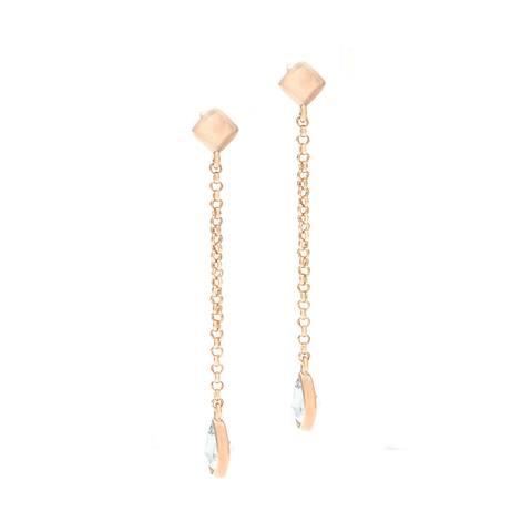 Forever Last 18 k Gold Overlay Blue Topaz Dangle Earrings