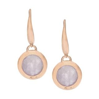 18k Gold Overlaid Amethyst Dangle Earrings