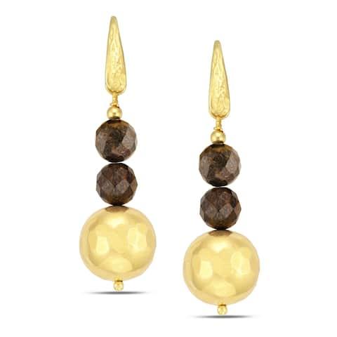 18 k Gold Overlay Drop Earrings