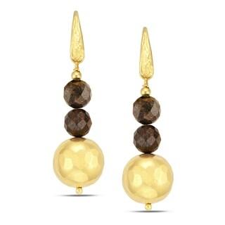 18k Gold Overlay Chandelier Earrings