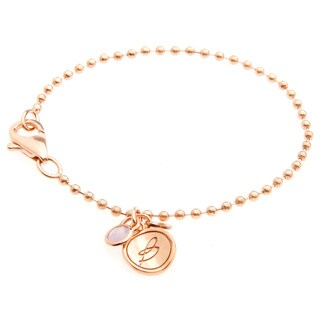 18k Gold Overlay Violet Quartz Charm Bracelet
