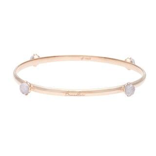 18k Gold Overlay Lavender Quartz Bangle Bracelet