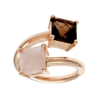 18k Gold Overlay Quartz Fashion Ring
