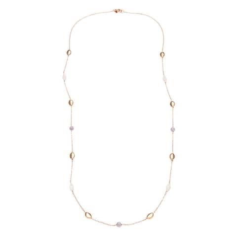 Forever Last 18 k Gold Overlay Quartz Stone Necklace