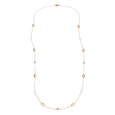 18k Gold Overlay Quartz Stone Necklace