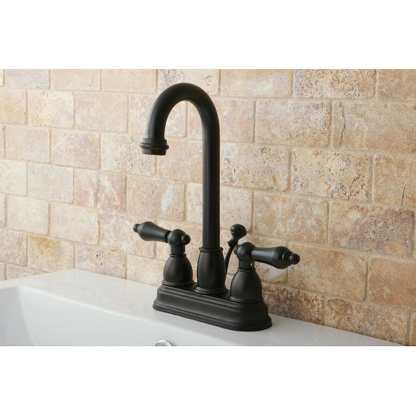 high arc oil rubbed bronze bathroom faucet and bathroom accessories set free shipping today
