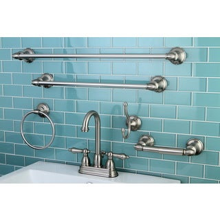 High Arc Satin Nickel Bathroom Faucet & Accessory Set