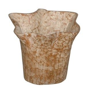 Decorative Tan Natura Teakwood Pot