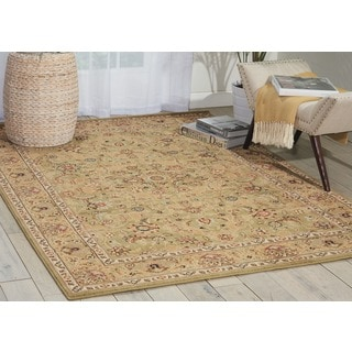 kathy ireland Lumiere Royal Countryside Sage Area Rug by Nourison (5'3 x 7'5)