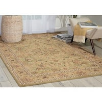 kathy ireland Lumiere Royal Countryside Sage Area Rug by Nourison - 5'3 x 7'5