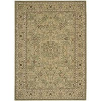 kathy ireland Lumiere Royal Countryside Sage Area Rug by Nourison (9'6 x 13')