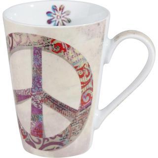 Konitz Peace Sign Porcelain Mug Set of 2