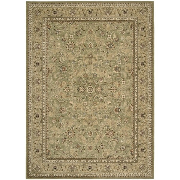 kathy ireland Lumiere Royal Countryside Sage Area Rug by Nourison - 7'9 x 10'10