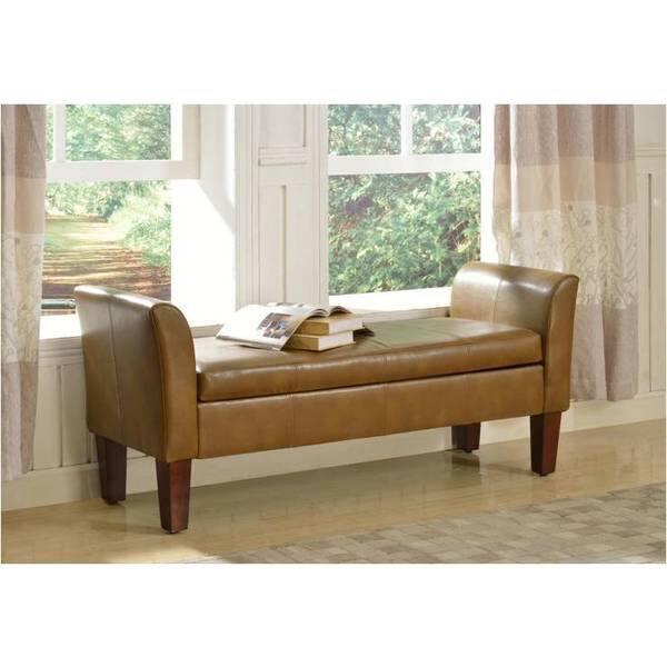 Cool Shop Rich Camel Storage Bench Free Shipping Today Inzonedesignstudio Interior Chair Design Inzonedesignstudiocom