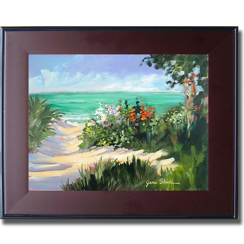 Jane Slivka 'Sun Beach Dunes' Framed Canvas